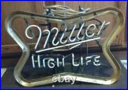 Miller High Life Beer Neon Vintage Sign Bar Garage Office