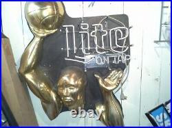 Miller Lite NBA Vintage Neon Sign