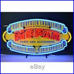 Mopar Vintage Shield Neon Sign