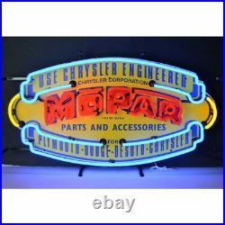 Mopar Vintage Shield Neon Sign Car Dealer Garage and Motorcycles 17 x 4 x 32