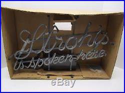 NOS Vintage 1970's Stroh's Neon Sign 80155 Stroh's Is Spoken Here TESTED