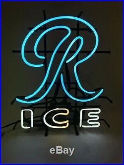 NOS Vintage 90s Rainier Ice 22 X 19 Beer Bar Pub Light Neon Sign Fallon USA