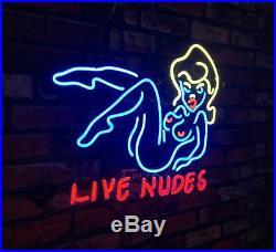 Neon Light LIVE NUDES BAR Custom Gift Boutique Decor Sign Sexy Girl Vintage