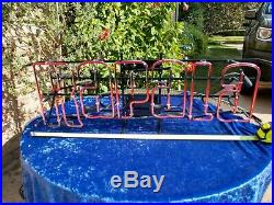 Neon Lighted Rapala Fishing Sign 33x15 Advertising Tackle Bait Lure Brand New