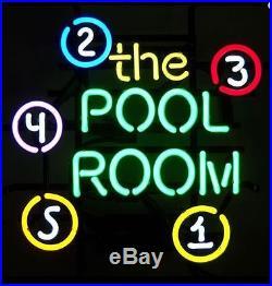 Neon Sign 5 Balls Billiards Picture Retro Vintage Room Bar Wall Home Decor Light