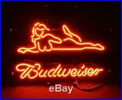 Neon Sign Hot Girl Vintage Budweiser Cusom Lamp Beer Bar Pub Party Wall Decor