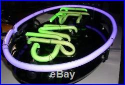 Neon Sign Lights Up 2 Colors Hemp Vintage 12 1/2 X 20 1/2 Oval