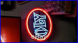 Neon Sign OLY Olympia Beer Sign Lighted Bar Advertising Display Vintage