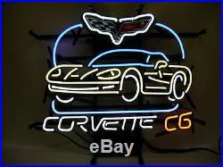 New Chevrolet Corvette C6 Vintage Car Auto Dealer Man Cave Neon Sign 20x16