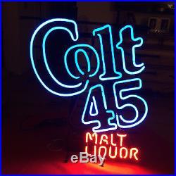 New Colt 45 Beer Malt Liquor Vintage 1990s Beer Pub Bar Neon Sign 20x16 BE295M