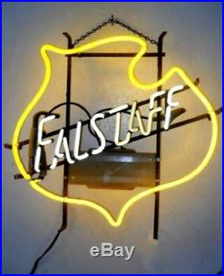 New Falstaff Vintage Real Glass Beer Bar Store Party Decor Neon Signs 19x15