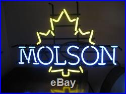 New VINTAGE MOLSON Real Glass Beer Bar Pub Store Decor Neon Light Signs 19x15