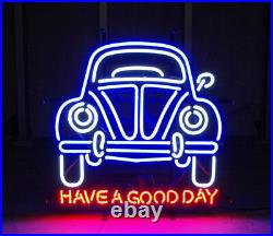 New Vintage Car Garage Have A Good Day Light Neon Sign 32x24