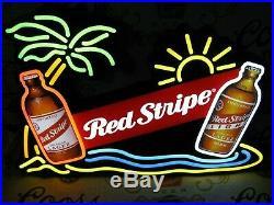 New Vtg 2011 Red Stripe Beer Lager Led Bottles N Motion Bar Light Sign No Neon