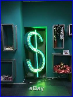 New York Rustic US dollar Very Cool Retro Neon Sign Vintage Illuminated Sign