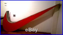 Nike Logo XXXL Sign Neon 79 Light Vintage Display Store Swoosh Advertising Red