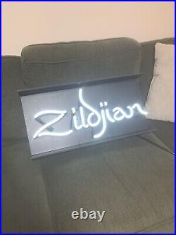 ORIGINAL Zildjian Cymbals Vintage Neon Dealer Factory Sign