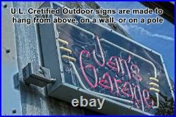 OUTDOOR Records Neon Sign Jantec 32 x 27 Music Store Resale Vintage Shop