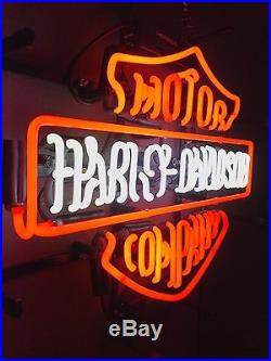 Official Harley Davidson Real Glass Neon Light Sign