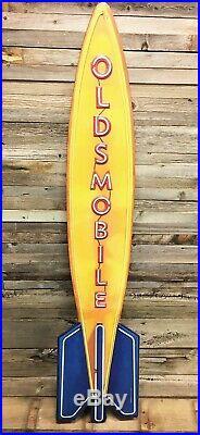 Oldsmobile Olds 54 Large Sign Vintage Style Neon Look Rocket 8 Gas Oil Garage