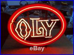 Olympia Beer OLY Vintage Neon Beer Sign
