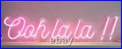 Ooh La La!' LED Neon Flex Sign Pale Pink Wedding, Birthday, Celebration