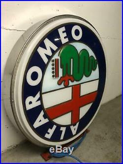 Original ALFA ROMEO Lighted Sign Neon Service Vintage 1980s Dealership Logo