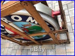 Original ALFA ROMEO Neon Lighted Sign Service Dealership NOS Vintage Garage Auto