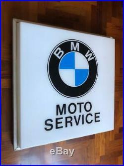 Original BMW NEON lighted Sign Service Vintage 1960s NOS Dealer MotorBike Moto