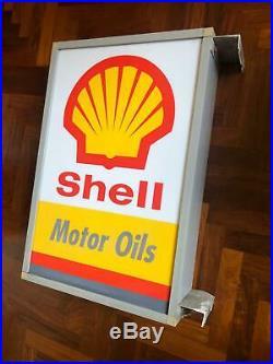 Original SHELL MOTOR OIL Lighted Sign Neon Vintage NOS 1980s Ferrari Gas petrol