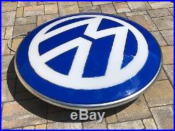 Original VW Neon Lighted Sign Volkswagen Service Dealership 1990s NOS Vintage