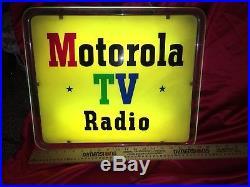 Original vintage neon Sign Motorola Radio TV Neon Products Inc Lima Ohio Rare