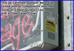 Outdoor XL Retro Open Neon Sign OUTDOOR Jantec 37 x 15 Store Vintage