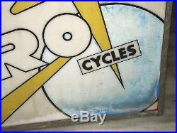 PRE HONDA 50s HERO CYCLES LIGHT BOX SIGN VINTAGE MOTORCYCLE BIKE NT ENAMEL NEON