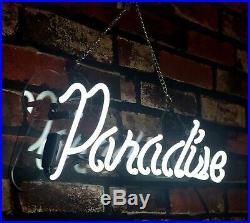 Paradise Pub Decor Neon Sign Porcelain Beer Vintage Custom Boutique Artwork