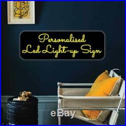 Personalised LED Light-up Man cave sign HOME BAR SIGN Neon Sign Cocktail Bar