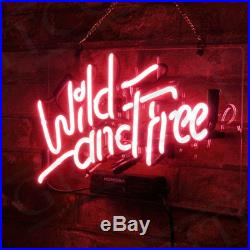 Pink Wild And Free Gift Custom Beer Vintage Store Porcelain Boutique Neon Sign