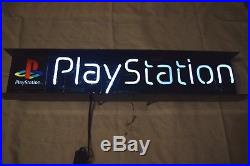 Playstation Illuminated Neon Display Sign 36 Inches 1998 Vintage Clean & Tested
