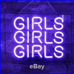 Purple GIRLS GIRLS GIRLS Vintage Beer Store Porcelain Custom Gift Neon Sign