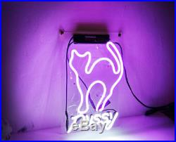 Pussy Cat Room Wall Beer Bar Decor Party Artwork Vintage NEON Light Sign