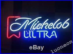 RARE Michelob Ultra Vintage Beer Bar Light Man Cave Garage Real Glass Neon Sign