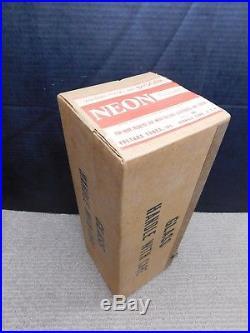 RARE NOS SEALED APR 2, 1959 VOLTARC NEON Vtg Glass Neon Sign Tube Gas Flask