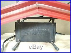 RARE Vintage BUDWEISER Beer Bow Tie Neon Bar Advertising Sign