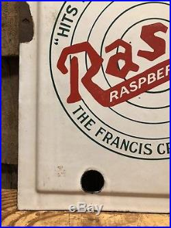 RARE Vintage RASBO Raspberry Shrub Francis Cropper Co. Porcelain Neon Sign