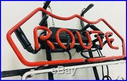 ROUTE 66 Bar Neon Sign Handcraft Vintage Custom Gift Bedroom Display Decor