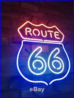 ROUTE 66 Bar Neon Sign Handcraft Vintage Custom Gift Bedroom Display Decor NE3