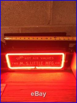 Rare 1940s Vtg Neon Sign M. S. Little 1911 Magazine Clip WWII Colt Hartford CT