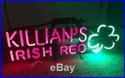 Rare Killians Irish Red Neon Sign Beer Light Pub Tavern Vintage Man Cave Bar