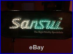 Rare! Sansui Vintage Advertising Sign Led Vintage Electronics Collectible Light
