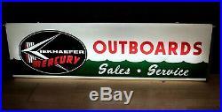 Rare Vintage 60's Kiekhaefer Mercury Lighted Neon Outboard Boat Motor Sign Hagen